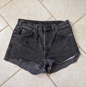 Levi's vintage cut off shorts 634